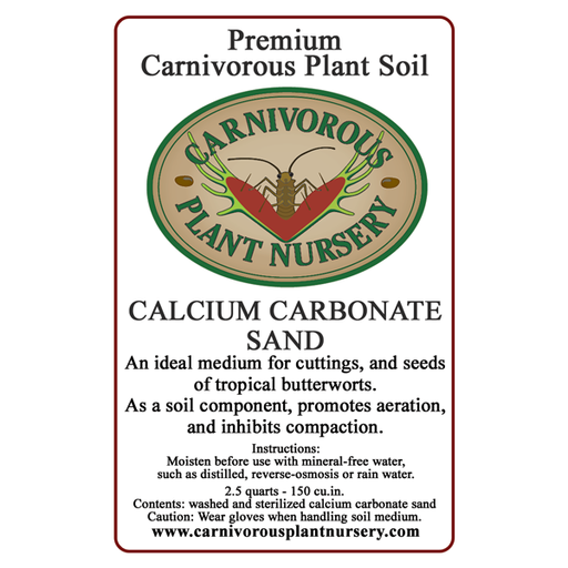 Soil Component Label Calcium Carbonate Sand