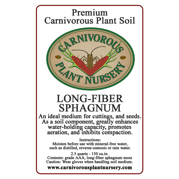CP Soil Component Label Long-Fiber Sphagnum