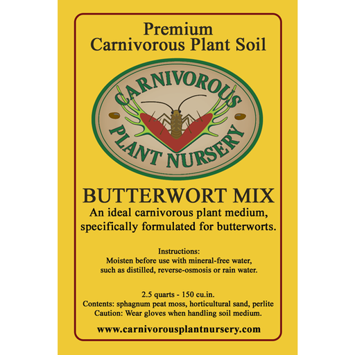 CP Soil Mix Label Temperate Butterwort