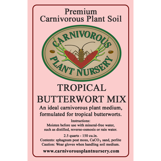 CP Soil Mix Label Tropical Butterworts