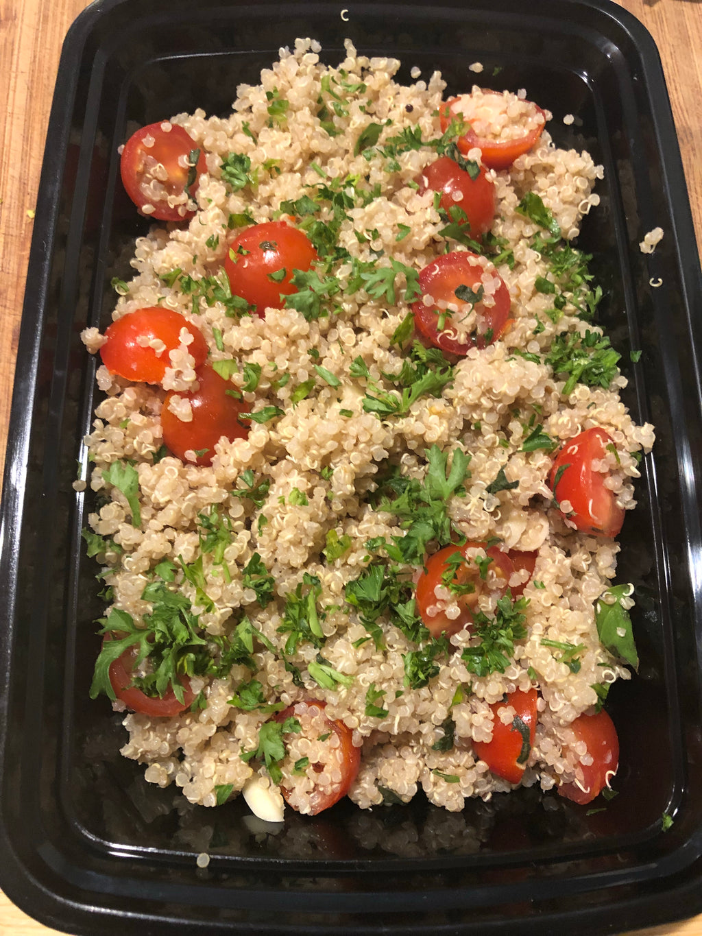 16 oz Quinoa with Lemon Basil and Cherry Tomatoes
