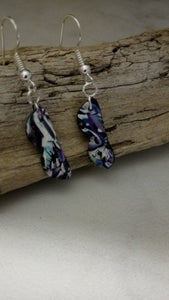 """Aquatic"" Glass earrings!"