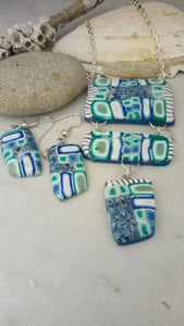 "Teal ""water cane"" Statement piece set - thepurplecove.com"