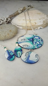 Water Cane and Tsunami Cane Necklace set