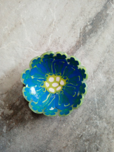 Mini Bowl Blue and green flowers