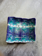 Load image into Gallery viewer, Bowl. teal and Purple graphic cane - thepurplecove.com
