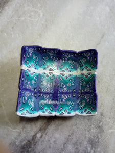 Bowl. teal and Purple graphic cane - thepurplecove.com