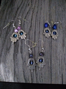 Hamsah Earrings, Judaica - thepurplecove.com
