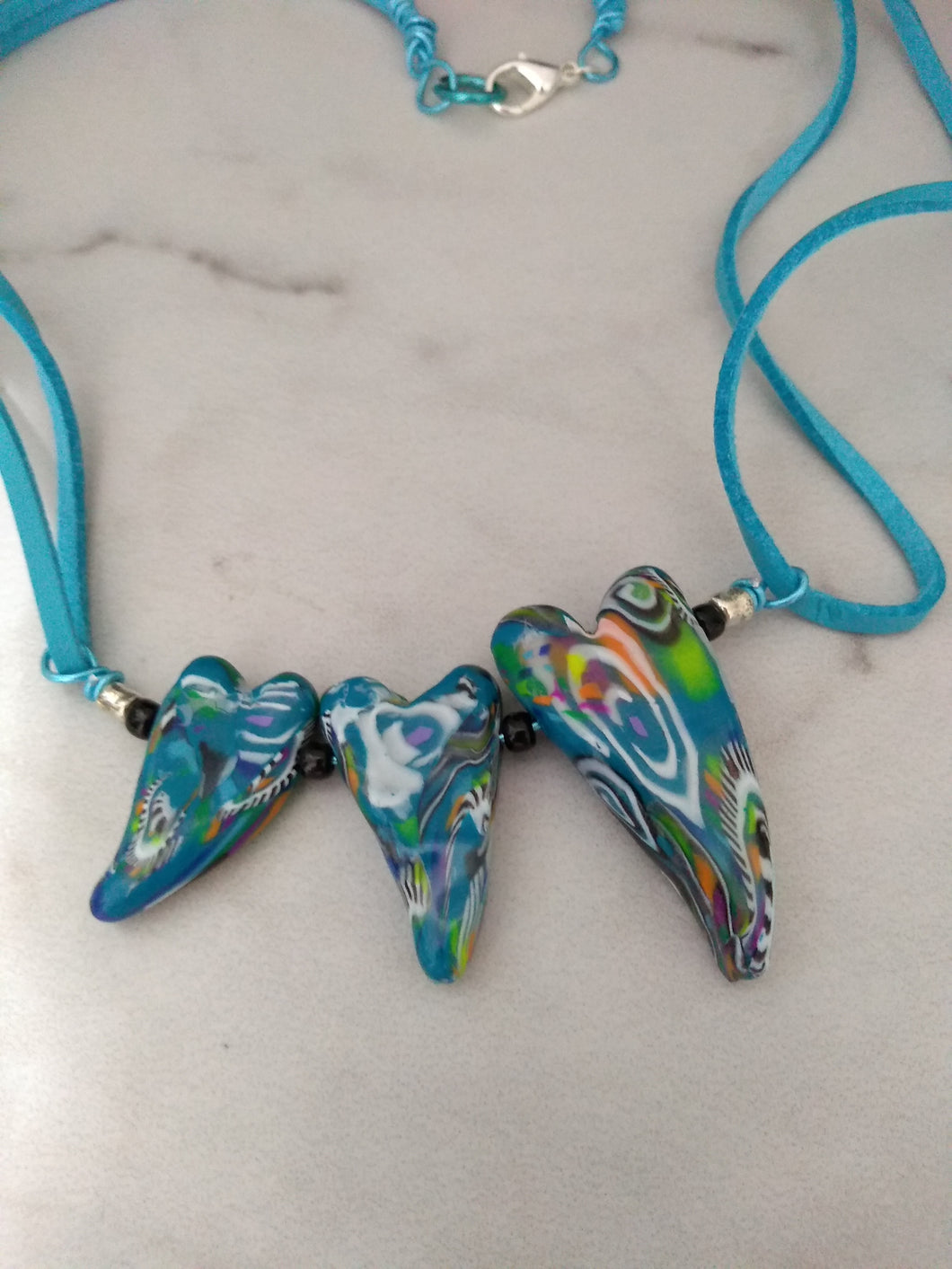 Turquoise Retro heart Necklace