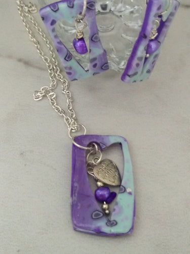 Empty Spaces of Hearts Necklace set - thepurplecove.com