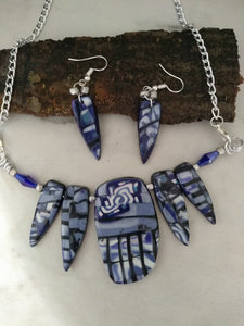 Deep Purple Mosaic Statement Necklace - thepurplecove.com