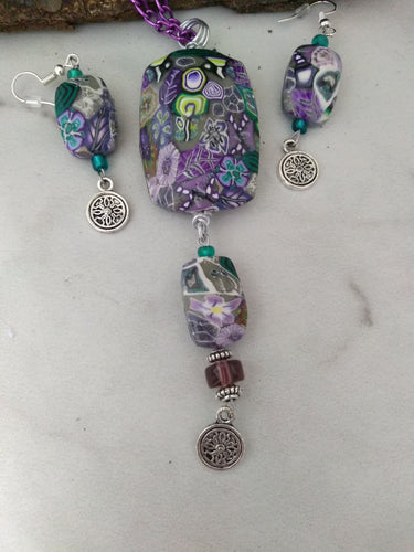 Your Own Garden Statement Necklace set - thepurplecove.com