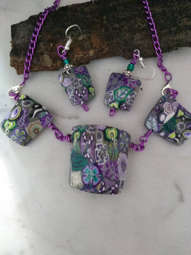 Your Own Garden Statement Necklace set 2 - thepurplecove.com