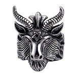 Goat's Head Sigil of 'Baphomet' 316L Stainless Steel Men's Ring - Rebel Stones