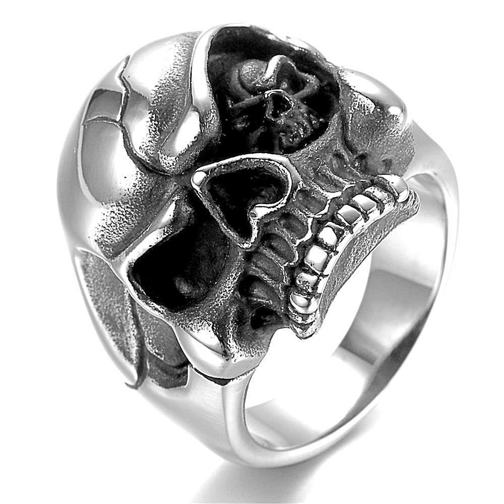 Men's 'Eye See You' Stainless Steel Skull Ring