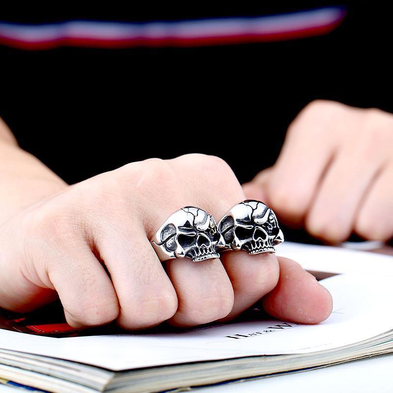 Men's 'Eye See You' Stainless Steel Skull Ring - Rebel Stones