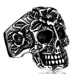 'Rose Skull' Ring - Rebel Stones