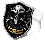 'Good Luck Skull' Ring - Rebel Stones