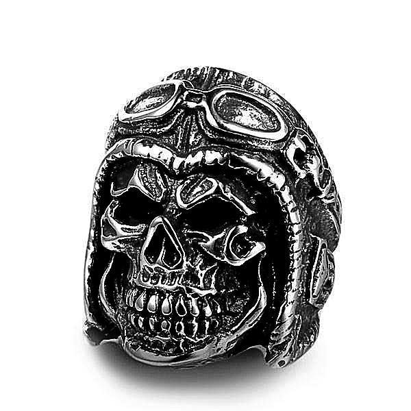 'Skull Wheeler' Ring