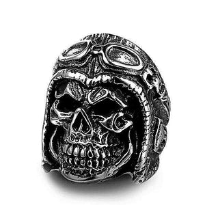 'Skull Wheeler' Ring - Rebel Stones