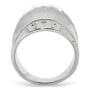 New! Hammered Stainless Steel Ring - Rebel Stones