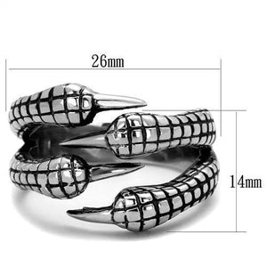 New! Patterned Claw Stainless Steel Ring