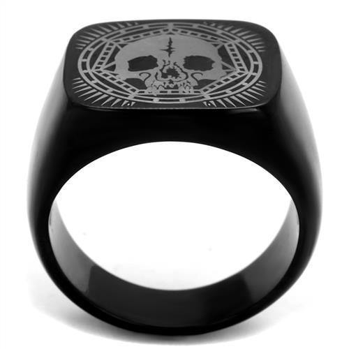 New!! Black Skull Mandala Stainless Steel Ring