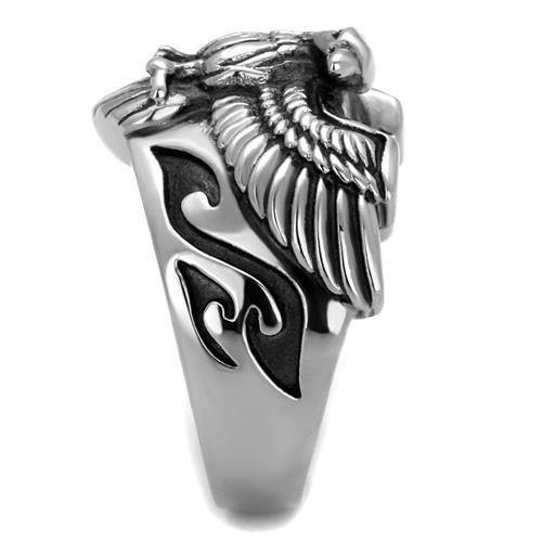 New! Standing Tall Eagle Stainless Steel Ring - Rebel Stones