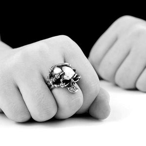 'Thinking Skull' Ring - Rebel Stones
