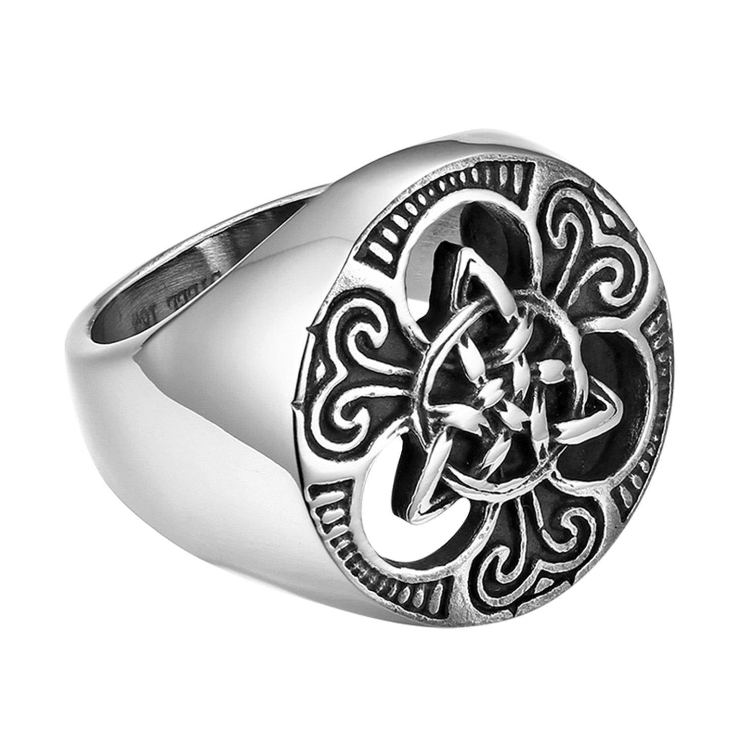 Men's Stainless Steel Celtic Knot Ring Large Sizes - Rebel Stones