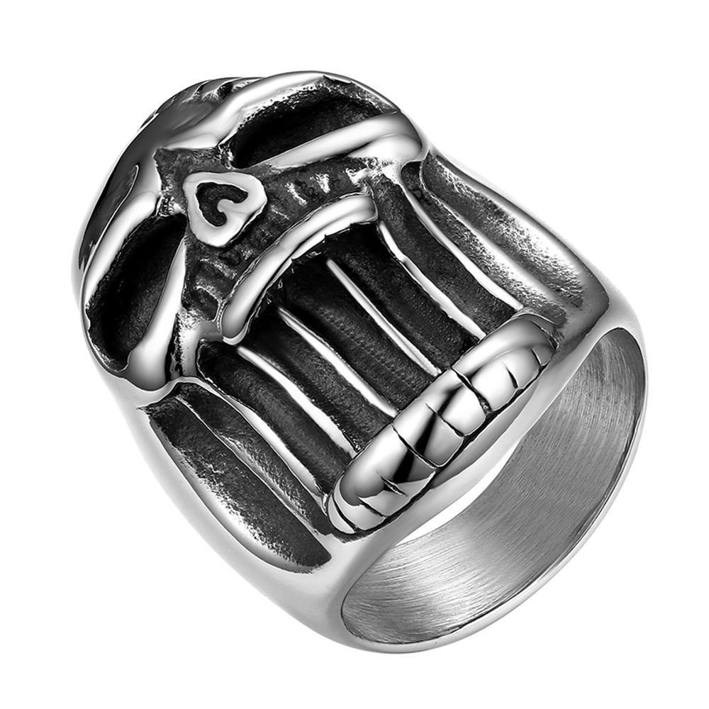 Screaming Skull Vintage Gothic Punk Skull Stainless Steel Men Rings Silver Color Biker Ring Jewelry Ring Beer Bottle Opener