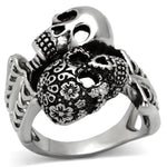 New! Muerte Love Stainless Steel Ring - Rebel Stones