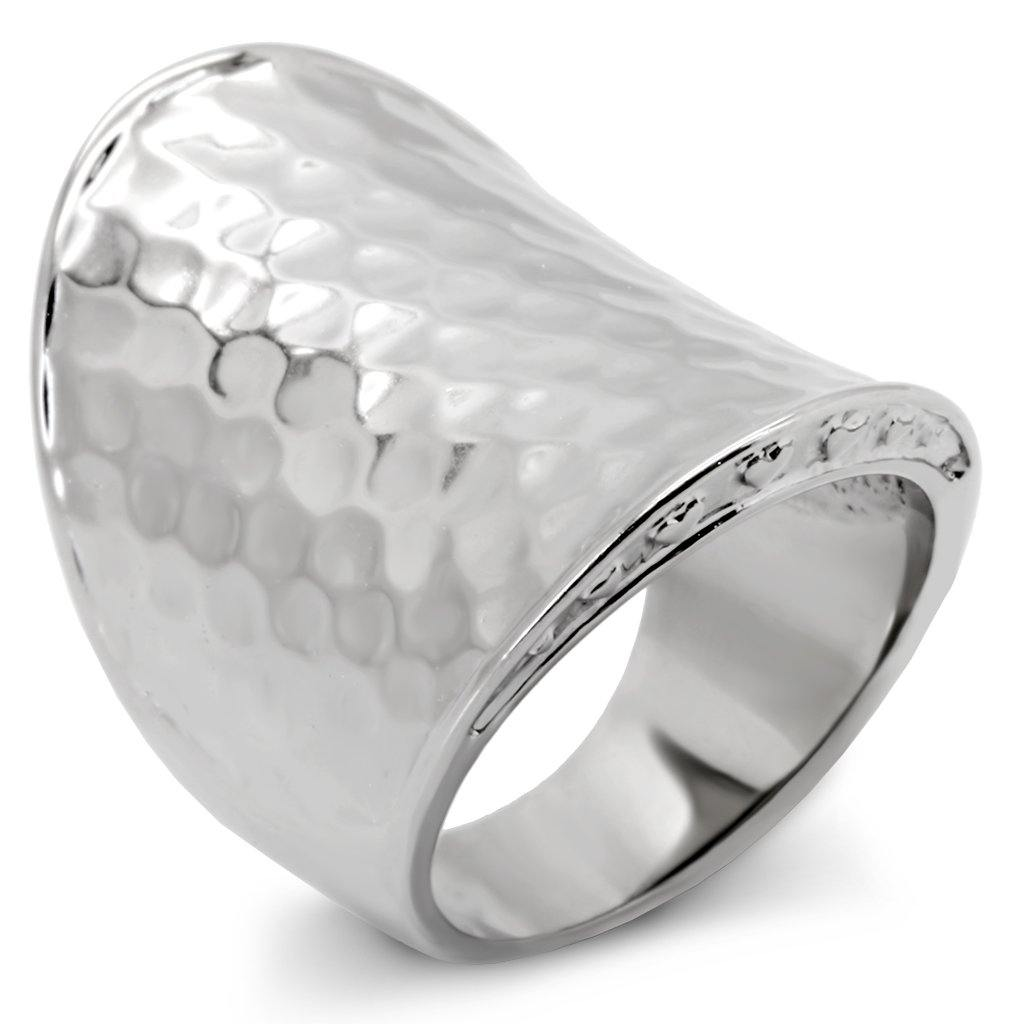 New! Hammered Stainless Steel Ring