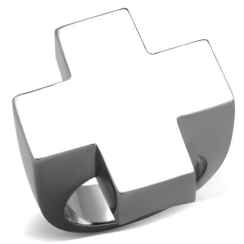 New! Cross Block Stainless Steel Ring - Rebel Stones