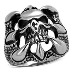 New! Skull Ripper Stainless Steel Ring - Rebel Stones