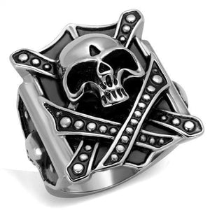 New! Rebel Skull Stainless Steel Ring - Rebel Stones
