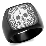 New!! Black Skull Mandala Ring