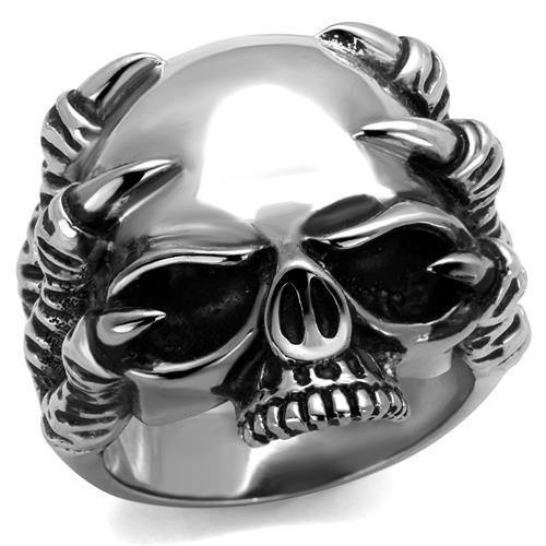 New! Talon and Skull Stainless Steel Ring - Rebel Stones