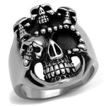 New! Crown of Skulls Stainless Steel Ring - Rebel Stones