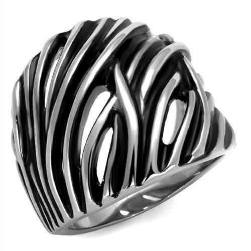 New! Slashed Stainless Steel Ring