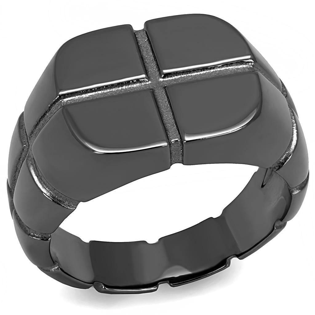 New! Light Black Quad Ring - Rebel Stones