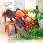 100% bamboo wood bamboo red retro sunglasses luxe polarized sunglasses women sunglasses Brand Designer sunglass Holiday gift