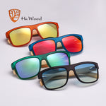 HU WOOD 2017 New Arrival Sea Gradient Shades Sunglasses for Men Bamboo Sunglasses Red UV400 Lenses Fashion Driving GR8010