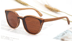 New Design Wood Sunglasses for Women and Men,Polarized Lens Retro Vintage Sun Glass High quality UV400