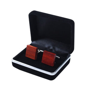 Wood Cufflinks Pince Cravate Stropdas Tie Clip set for Men Women With gift case