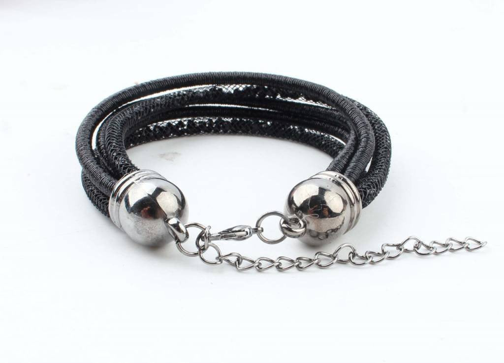 Armband - 5-rijen zwart - Fashion4