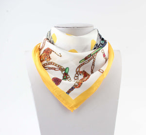 Bandana Wit - Beach Treasure Tigers - Gele Rand - Fashion4