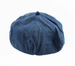Baret - Denim - donkerblauw - Omtrek 54-55 cm - Diameter 17cm - Fashion4