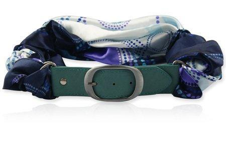 Blauwe Dames Gesp Riem - Circle Indigo Dots - Fashion4