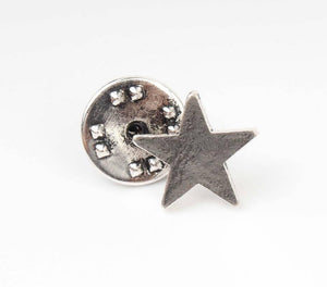 Brushed Metal Star Pin - 3 stuks - Fashion4